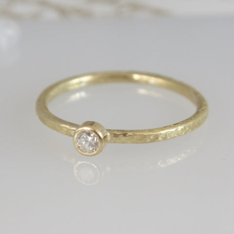 Dainty 18ct Gold Diamond Solitaire Ring