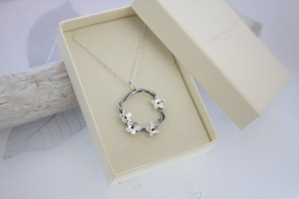 Woodland Flower Circle Necklace