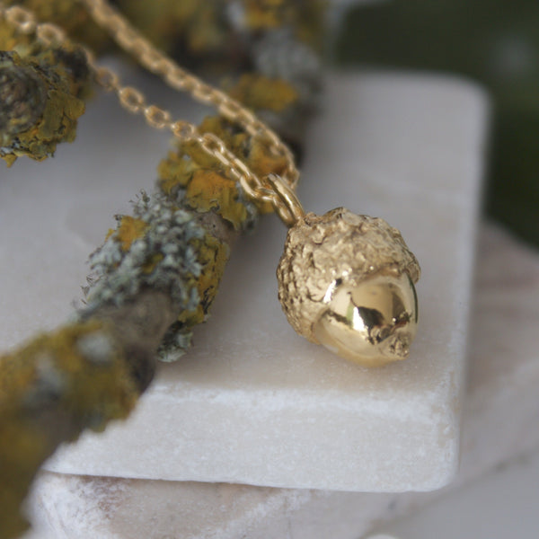 Gold Vermeil Woodland Acorn Necklace