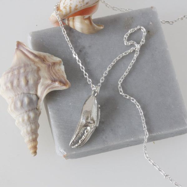Crab Claw Necklace, Cancer Zodiac Sign Necklace
