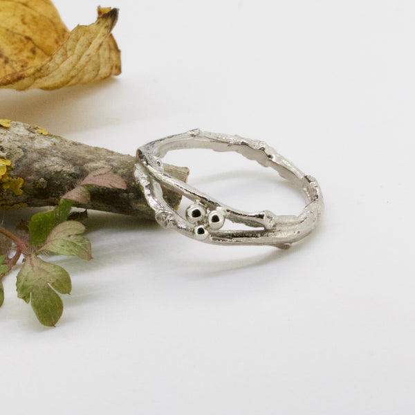 Gold Woodland Twig Ring-twig wedding ring-nature wedding ring-9ct gold ring