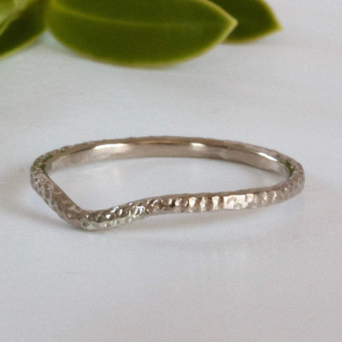handmade 18ct gold shaped wedding ring