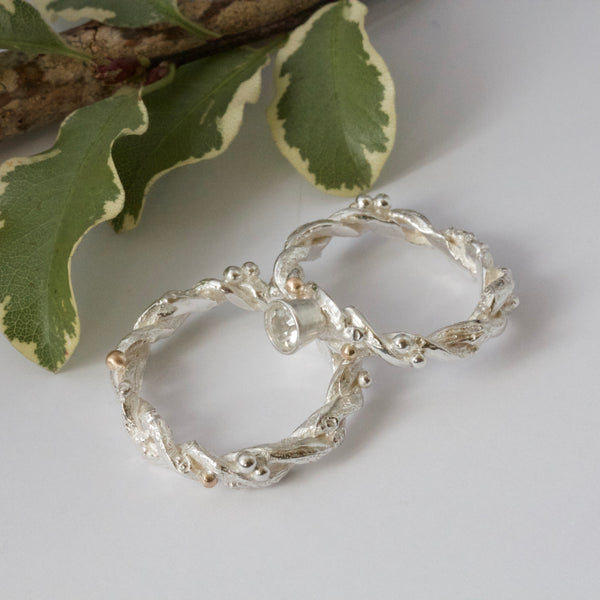 Entwined Forest Twig Ring-Alternative Unique Engagement Ring-branch ring