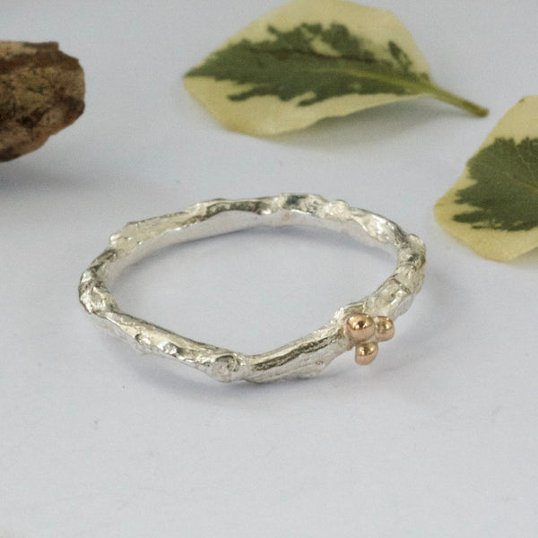 delicate alternative wedding ring