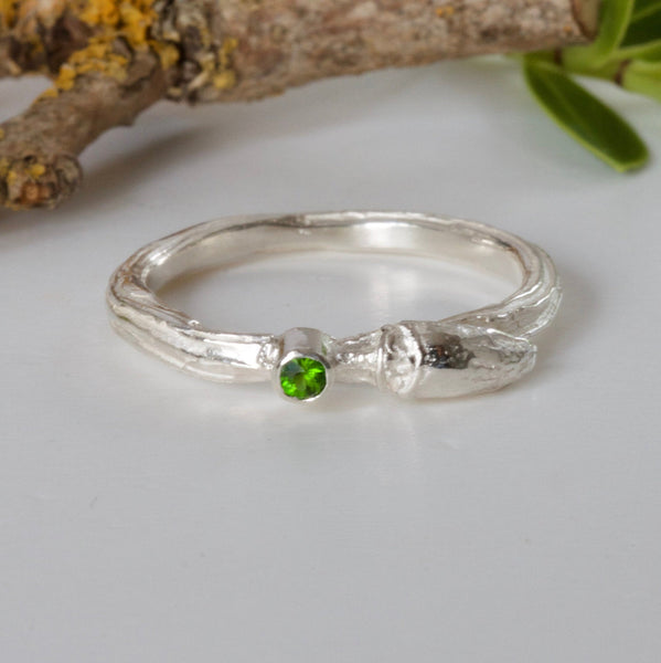 silver willow bud ring