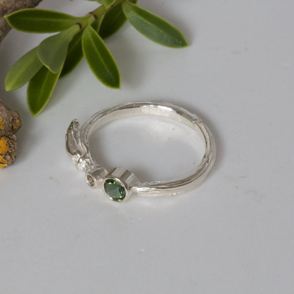 silver willow twig ring