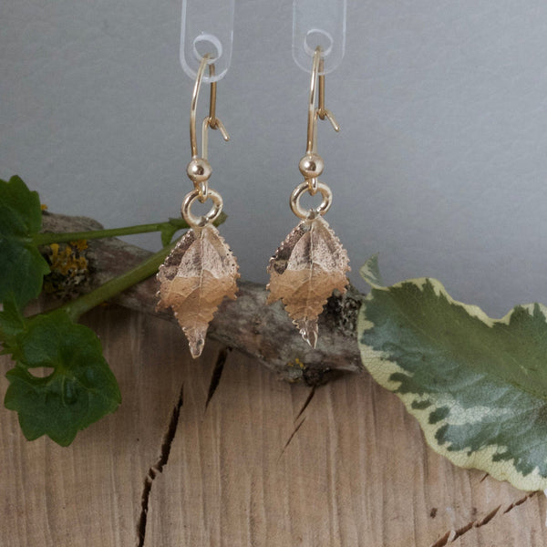 drop leaf earrings 9ct gold