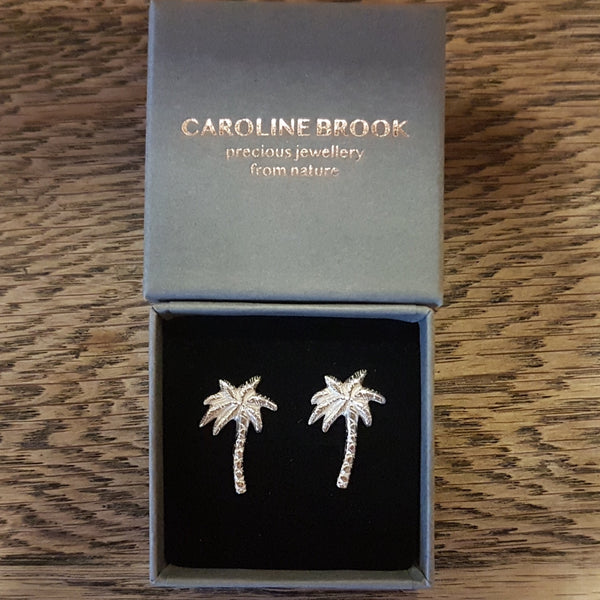 Palm Tree Earrings, Tropical Stud Earring, Boho Beach Jewellery