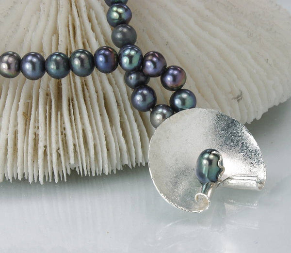 Silver and Freshwater Pearl Necklace