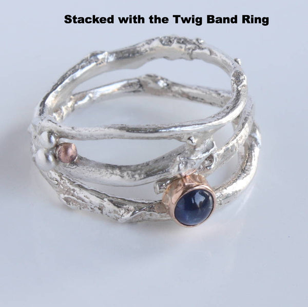 Sapphire Woodland Twig Ring, Sapphire Engagement Ring