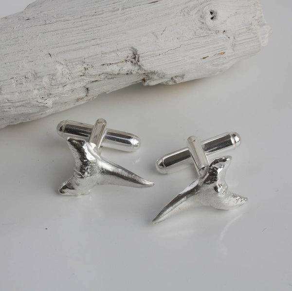 Silver Shark Tooth Cufflinks