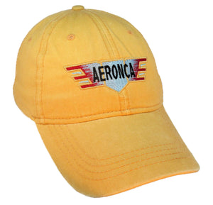 Aeronca Wings - Pre War Logo on a Yellow Cap