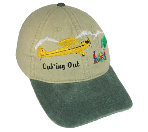 Cub'ing Out on a Khaki/Green Cap