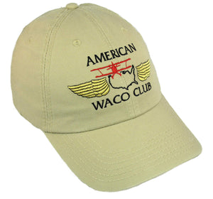 American WACO Club Logo on a Khaki Cap