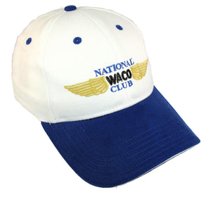 National Waco Club Logo on a White/Royal Cap