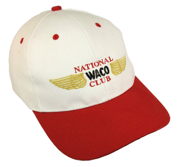 National Waco Club Logo on a White/Red Cap