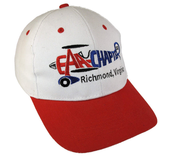 EAA Chapter 231 Logo on a White/Red Cap