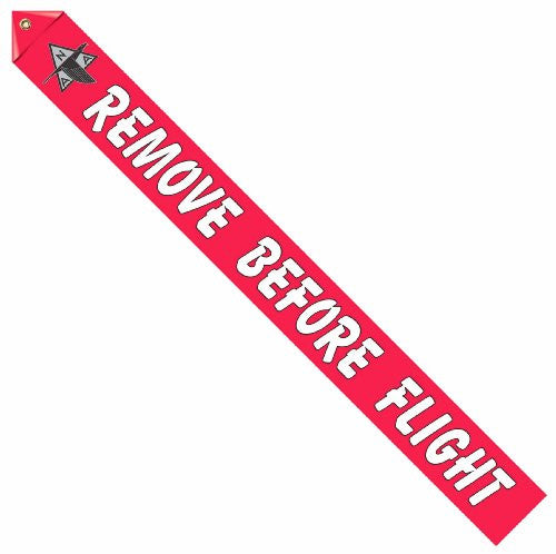 North American Logo Remove Before Flight Streamer