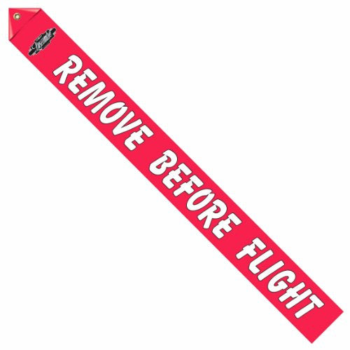 Luscombe Logo Remove Before Flight Streamer