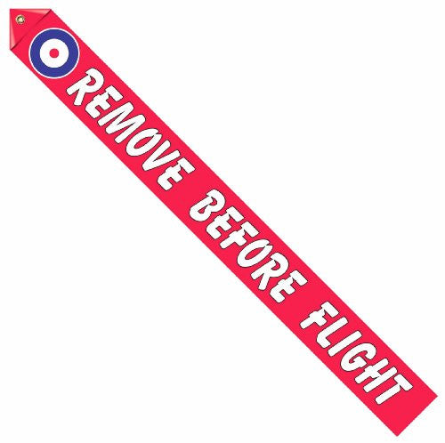 Royal Flying Corps Cockade Remove Before Flight Streamer