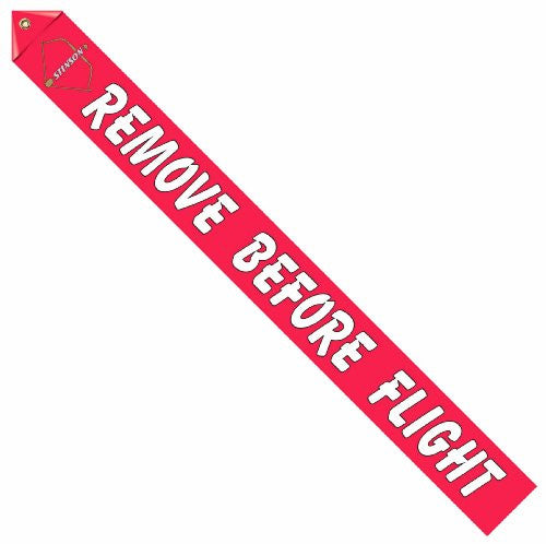 Post War Stinson Logo Remove Before Flight Streamer