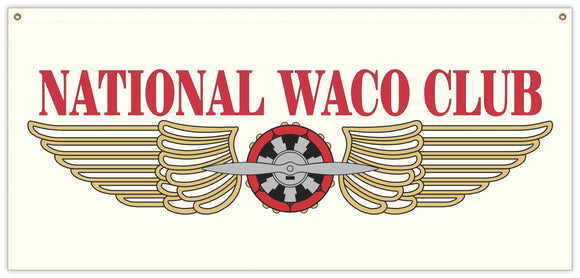 54 in. x 25 in. National WACO Club - Cotton Banner