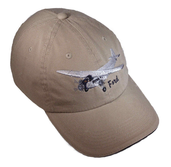 Ford Tri Motor on a Khaki/Black Cap