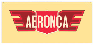 54 in. x 25 in. Aeronca Post-War - Cotton Banner
