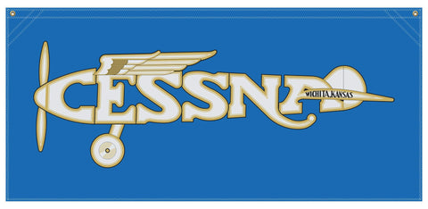 54 in. x 25 in. Cessna1920s Logo - Cotton Banner