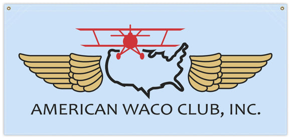 54 in. x 25 in. American WACO Club - Cotton Banner