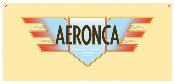54 in. x 25 in. Aeronca Pre-War - Cotton Banner