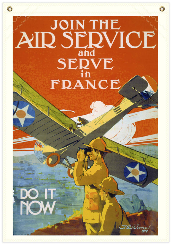 22 in. x 31 in. Do It Now - WWI Recruiting - Cotton Banner