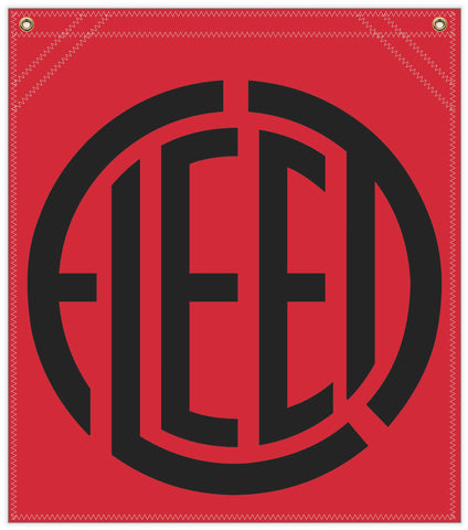 22 in. x 25 in. Fleet Aircraft - Cotton Banner - Colors: Red with Black