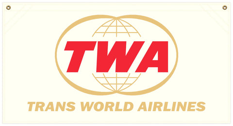 36 in. x 19 in. TWA - Cotton Banner