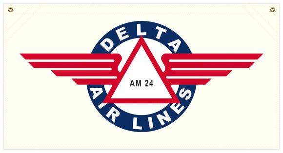 36 in. x 19 in. Delta Airlines - Cotton Banner