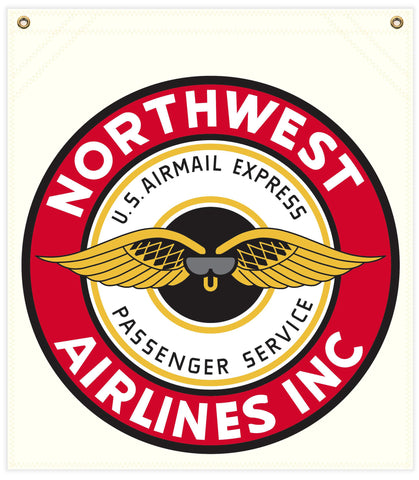 22 in. x 25 in. Northwest Airlines - Cotton Banner