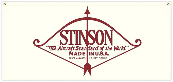 54 in. x 25 in. Stinson Pre-War - Cotton Banner