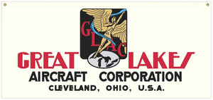 54 in. x 25 in. Great Lakes Aircraft - Cotton Banner