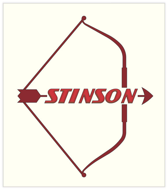 22 in. x 25 in. Stinson Post-War - Cotton Banner