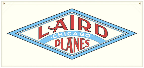 54 in. x 25 in. Laird Aircraft - Cotton Banner