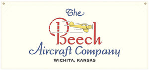 54 in. x 25 in. Beech Aircraft - Cotton Banner
