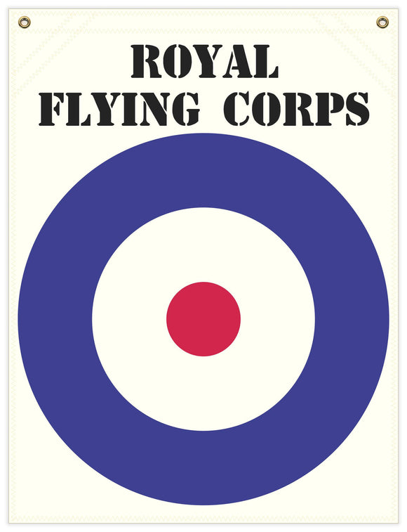 22 in. x 29 in. Royal Flying Corps - Cotton Banner