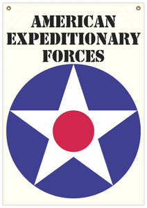 22 in. x 31 in. American Ex. Forces - Star - Cotton Banner
