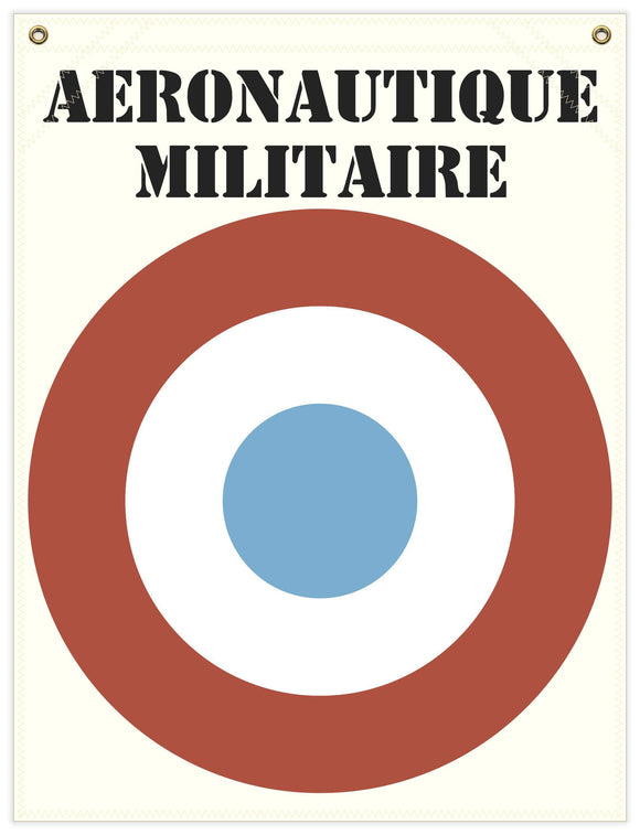 22 in. x 29 in. French Cockade - Cotton Banner