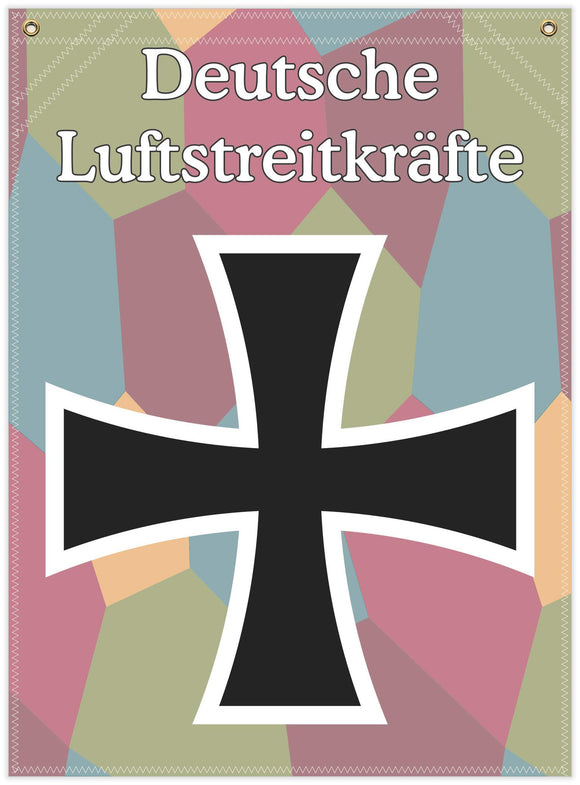 22 in. x 30 in. German Iron Cross - Cotton Banner