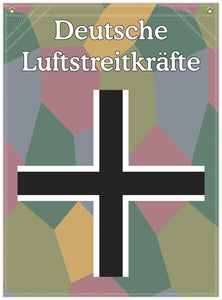 22 in. x 30 in. German Bar Cross - Cotton Banner