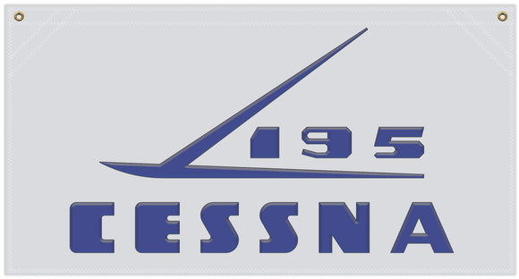 36 in. x 19 in. Cessna195 - Cotton Banner
