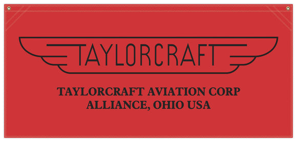 54 in. x 25 in. Taylorcraft - Cotton Banner