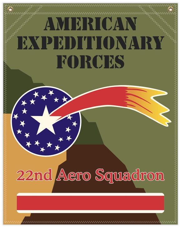 22 in. x 28 in. 22nd Aero Squadron - Cotton Banner