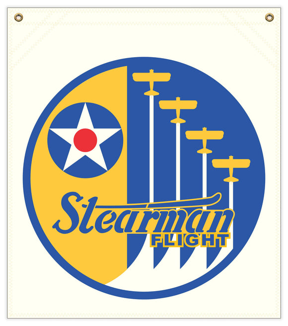 23 in. x 25 in. Stearman Flight - Cotton Banner